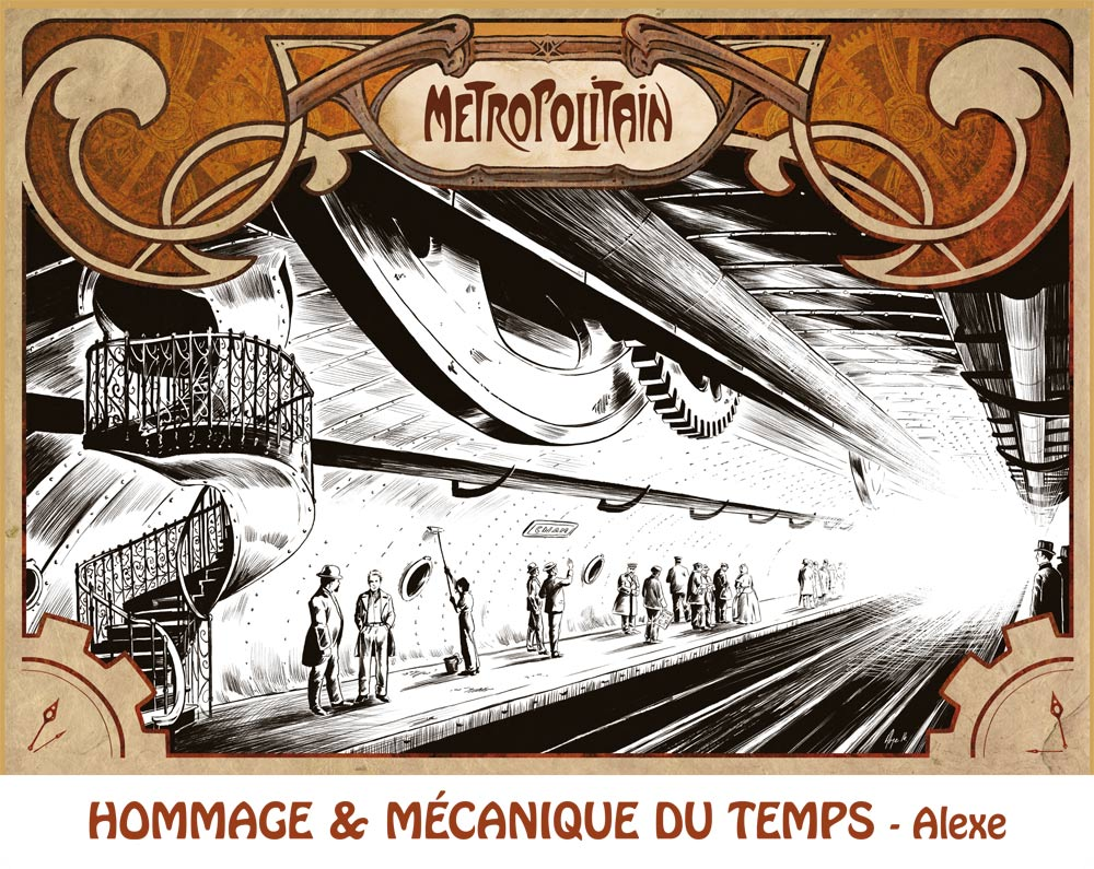 Alexe - Hommage à la mécanique du temps (Exposition Station 9e art)