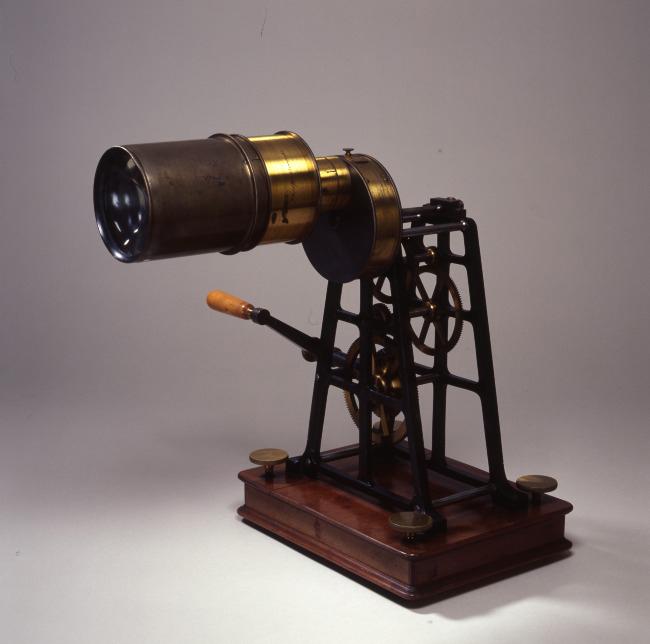 Phosphoroscope de Becquerel et objectif, 1850-1868
