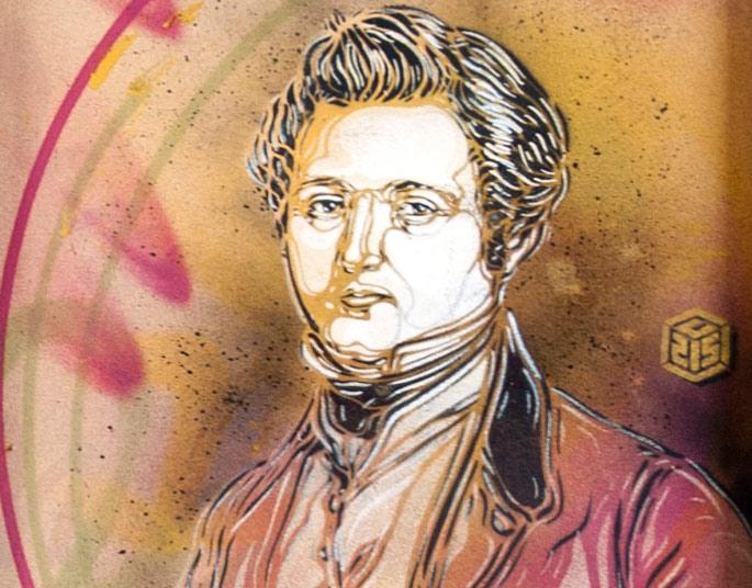 Adolphe Blanqui au Cnam vu par C215