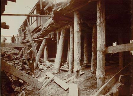 Construction de la station en 1902