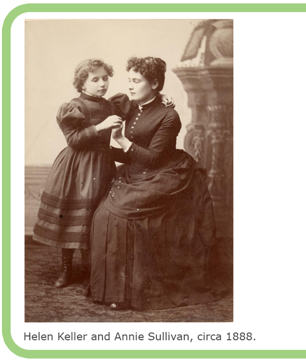 Helen Keller and Annie Sullivan, circa 1888