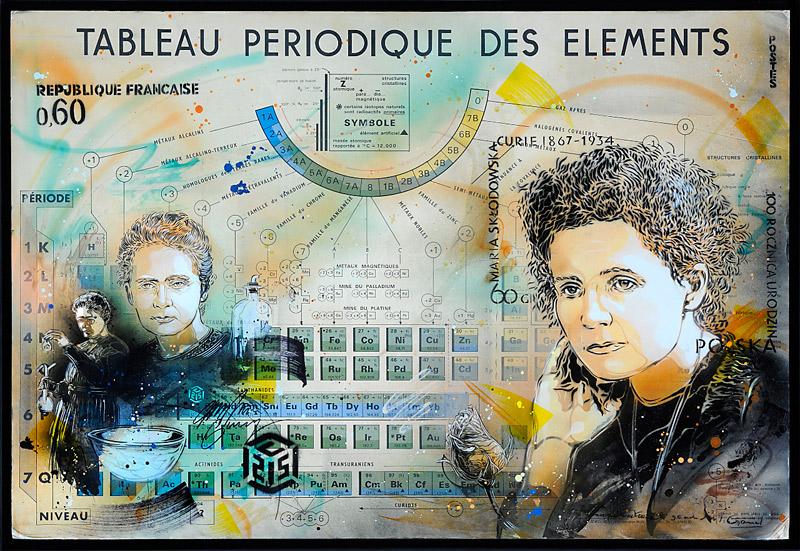 Marie-Curie par C215