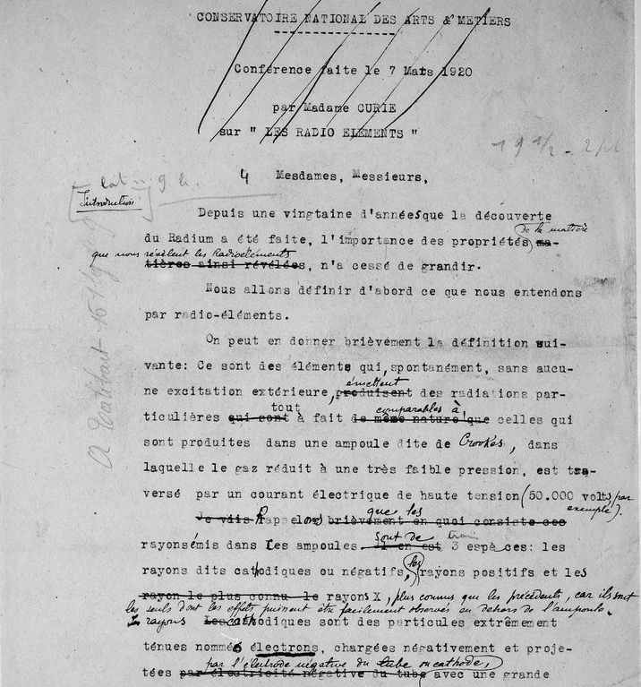 Notes Marie Curie