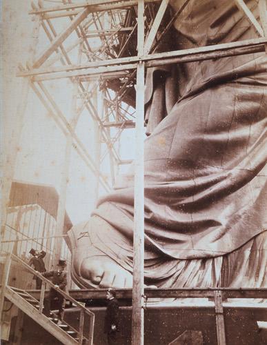 Détail statue de la liberté