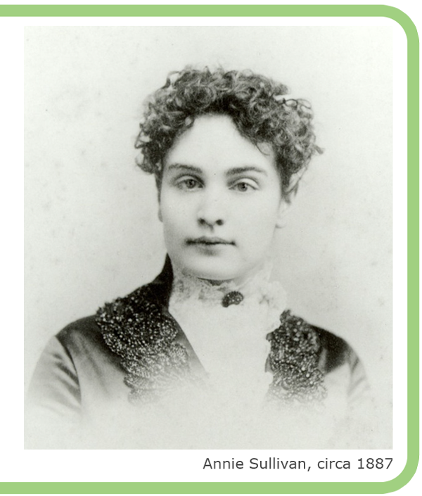 photo portrait d'Annie Sullivan, circa 1887